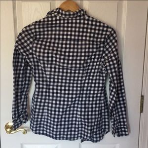 Vineyard Vines Tops - EUC Light Flannel Navy Gingham Button Down